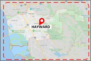 Favorite Plumber Hayward CA Map
