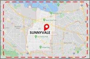 Favorite Plumber Sunnyvale CA Map